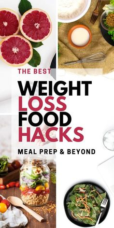 Check out these amazing weight loss food hacks! There are meal prep hacks, meal planning tips, & more Best Weight Loss Foods, Weight Loss Drinks, Weight Loss Meal Plan, Fast Weight Loss, Healthy Weight Loss, How To Lose Weight Fast, Losing Weight, Fat Fast, Lose Fat