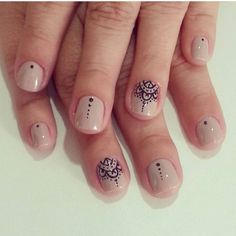 By @unhas_leticiabonatto #nailart #nude Stamping Nail Art, Gel Nail Art, Mandala Nails, Toe Nail Designs, Cute Nail Art, Bridal Nails, Stylish Nails, Fabulous Nails, Toe Nails