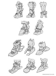 ArtStation - Sketch for fun, Dipo Muh. Robot Concept Art, Armor Concept, Weapon Concept Art, Arte Robot, Robot Art, Character Concept, Character Art, Robots Drawing, How To Draw Robots