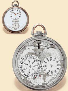Esse é para o bolso de quem pode e conhece uma bela e valiosa joia... Ministry of Plenty: Vacheron & Constantine American Calendar 1936 pocket watch