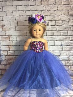 Excited to share this item from my shop: American Girl Blue Fantasy Flower Queen Outfit American Girl Clothes, Girl Doll Clothes, Girl Dolls, American Girls, Barbie Clothes, Baby Dolls, Princess Outfits, Pink Princess, Dance Outfits