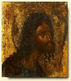 Detailed view: Saint John The Baptist- exhibited at the Temple Gallery, specialists in Russian icons Byzantine Icons, Byzantine Art, Religious Icons, Religious Art, Orthodox Catholic, Orthodox Christianity, Russian Icons, Best Icons, Fresco