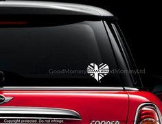 Emblématique Mini coeur autocollant pour votre Mini Cooper