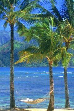 "Kauai Beach, Hawaii--Looks like a vacation for ""mommy and daddy. Kauai Hawaii, Hawaii Usa, Hawaii Travel, Hanalei Kauai, Kailua Beach, Maldives Travel, Paradis Tropical, Places To Travel, Places To Go"