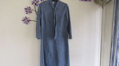 Debenhams Vintage  Blue  Size 18 Dress With Tie   #Debenhams #TeaDress #Casual