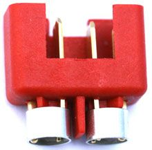 Hochstromstecker rot mit Ring - Made in Germany - EURO 2,80