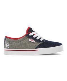 23682062a4266 etnies Denim   Red Jameson Sneaker