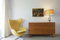 Retro furniture yellow armchair