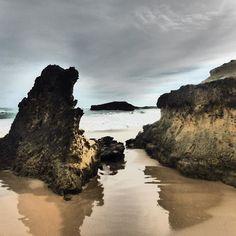 #bay of #martyrs #greatoceanroad #destinationwarrnambool #ausfeels #avontuurco #warrnambool #victoria #australia #sea #sand #ocean #rocks #waves #clouds by bobh1950