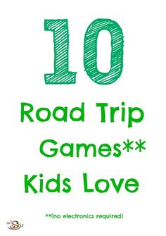 Road trip games are a must for travel with kids -- fun ideas here: http://thestir.cafemom.com/toddler/156065/10_fun_road_trip_games