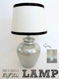 Spray paint lamp or other decor chrome or metallics