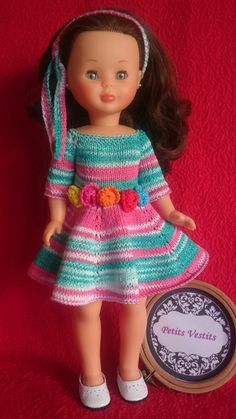 Knit Crochet, Crochet Hats, Baby Dresses, Doll Clothes, Barbie, Knitting, Fashion, Dresses, Nancy Doll