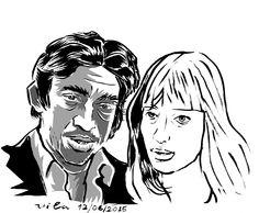 Serge Gainsbourg (Lucien Ginzburg) e Françoise Hardy