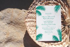 Fiji Wedding Invite  Palm by apeachyshop on Etsy, $45.00
