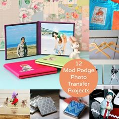 12 mod podge photo transfer crafts