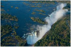 Aerial view of the Victoria Falls from the Zimbabwe side