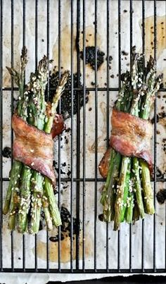 Bacon Wrapped Caramelized Asparagus