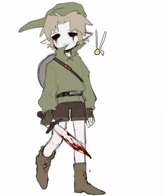 Creepypasta Cute, Creepypasta Characters, Ben Drowned, Legend Of Zelda Memes, Vocaloid, Creepy Pictures, Funny Art, Manga Anime, Scary