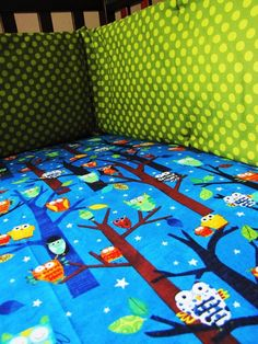 Forest Fun owl baby bedding set with fitted by birdshaveflowers, $233.00