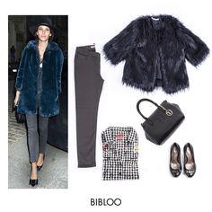 Blue fur coat by Alexa Chung BIBLOO Blue Fur Coat, Alexa Chung, Celebrities, Polyvore, Inspiration, Fashion, Biblical Inspiration, Moda, Celebs