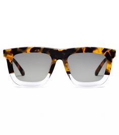 Karen Walker Orchard Sunglasses Chunky Karen Walker Sunglasses with tortoiseshell and clear acetate frames. Polished trim and arrow details on the arms. Hard case and cleaning cloth included. Round Face Sunglasses, Sunglasses Shop, Sunglasses Accessories, Walker Accessories, Fashion Accessories, Karen Walker Sunglasses, Cool Glasses, Who What Wear, Sunnies