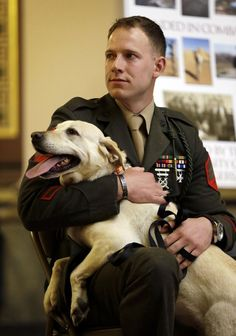 Marine, dog reunited in surprise ceremony - Heartwarming story