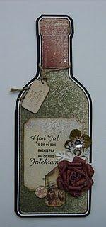 Wine Bottle Crafty Card