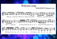 MLT easy as Do Re Mi: A Music Learning Theory classroom: Welcome song! Classroom Welcome, Music Classroom, Welcome Songs, Hello Music, Singing Games, Learning Theory, Music School, Music Activities, Elementary Music