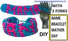 HOW TO MAKE NAME BRACELET WITHOUT RAINBOW LOOM. WITH MAMA LETTERS