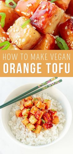 Tofu Recipes, Vegetarian Recipes, Healthy Recipes, Vegan Main Dishes, Tasty Dishes, Vegan Orange Chicken Recipe, Rat Food, Healthy Cooking, Healthy Eating