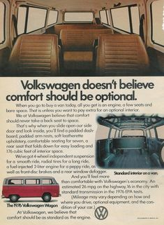 Vintage VW Advertisment