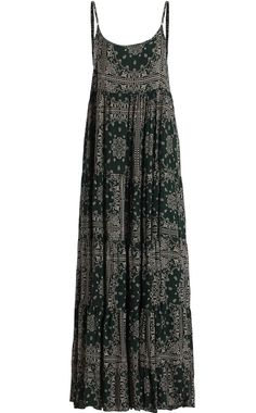 Shop Spaghetti Strap Vintage Print Green Dress at ROMWE, discover more fashion styles online. Bohemian Chic Fashion, Cute Fashion, 90s Fashion, Fashion Outfits, Modest Dresses, Casual Dresses, Black Dress Outfits, Quoi Porter, Vintage Prints