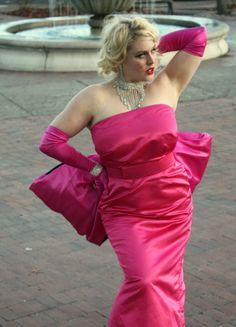 Marilyn Monroe's Pink Silk Satin Diamonds Are A by DaintyRascal, $525.00