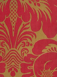 Gold and red paisley