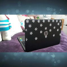Winter laptop DIY/ easy and pretty