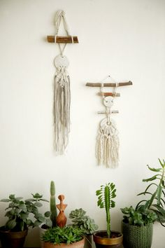 set of two Wall tapestry,Small Macrame Wall Hanging, Modern Macrame, Wall Art, Boho Wall Hanging, Macrame Tapestry, boho art, boho decor, wall decor ^^^^^^^^  This special macrame wall hanging will give your home bohochic. this modern macrame gives your room warm feeling, you can hang it in your badroom,living room or any other room.  ^^^^^^^^^ Macrame width-20 cm (7.5 inches ) Macrame length- 40cm (15.5 inches)