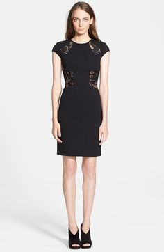 Emilio Pucci Lace Inset Crepe Sheath Dress available at #Nordstrom
