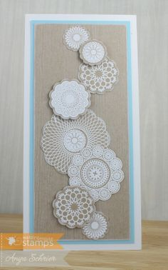 Anya's awesome doilies!  - Life is What You Make It: Waltzingmouse Stamps February Blog Party