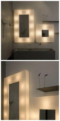 """""""Эго"""" является легкой рамой с двойной функциональностью. Это рама для зеркала и сенсорный светильник одновременно, что весьма удобно для использования в ванной комнате. Ее дизайн, будучи весьма современным и декоративным, создает функциональное освещение для зеркала, и в то же время, способствует атмосфере, с помощью функции """"Touch системы"""", которая позволяет пользователю включить и выключить лампу, а также изменить интенсивность свечения только прикоснувшись к металлической пластине."""