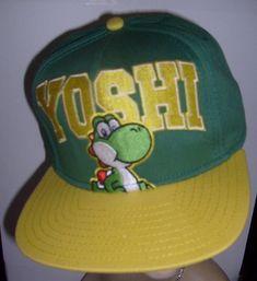 9b437242f17df customized caps · SUPER MARIO YOSHI ORIGINAL SNAPBACK FLAT BILL HAT GREEN  YELLOW CAP SPENCER S NEW  SPENCERS