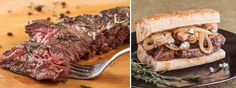 Bourbon glazed skirt steak and sandwich enlarged