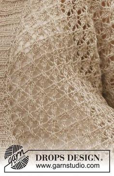 Die Melanie-Strickjacke von DROPSDesign is nicht so mein Fall, aber das Lace-Muster ist aufhebenswert. Gefunden auf