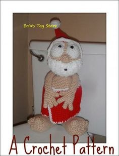 Peek-A-Boo Santa A Crochet Pattern by Erin Scull by ErinsToyStore for $1.98