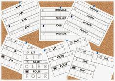 Maternelle et Direction de yann: Série de cartes style Nathan sur la maison