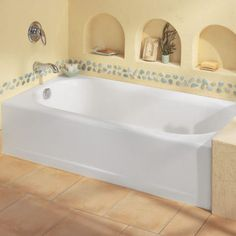 View Princeton 60 Inch by 30 Inch Integral Apron Bathtub with Drain, Above Floor Rough-in Alternate View