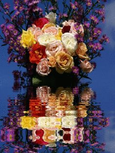 анимированный цветок