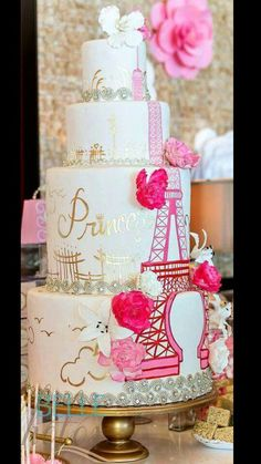 A huge variety of birthday cake pictures for all age groups, family members or friends. Find the right birthday cake idea for your cake design. Gorgeous Cakes, Pretty Cakes, Cute Cakes, Amazing Cakes, Sweet Cakes, Fondant Cakes, Cupcake Cakes, Bolo Paris, Big Wedding Cakes