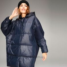 купить Пальто-пуховик Oversize c капюшоном от Flora