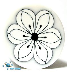 White and black flower cane by Marcia - Mars design, via Flickr