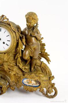 Relojes de carga manual: RELOJ FRANCES SIGLO XIX EN BRONCE DORADO. DETALLES EN…